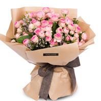 핑크 자나장미 꽃다발