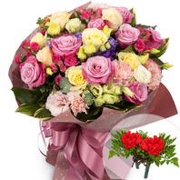 카네이션혼합꽃다발+코사지2개