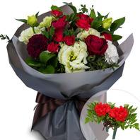 카네이션장미혼합꽃다발+코사지2개