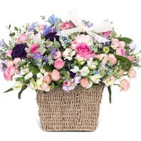 v파스텔 계절꽃혼합