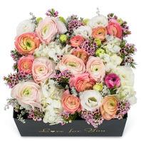 아이보리핑크혼합 꽃박스