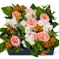 연핑크그린꽃상자
