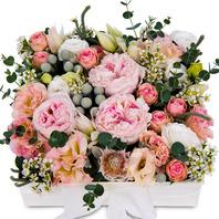 분홍계절꽃 플라워박스