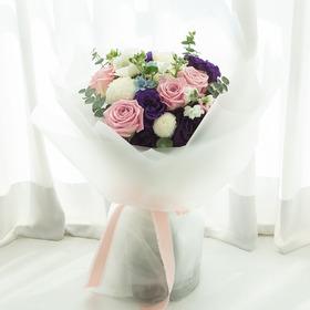 파스텔 장미혼합꽃다발