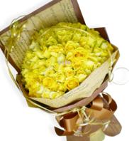 노란장미100송이 꽃다발