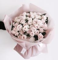 연핑크50송이 꽃다발