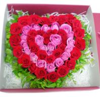 하트두개 꽃박스