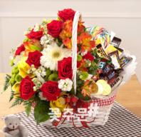 초코+꽃바구니 (사탕가능)