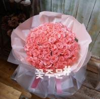 핑크100송이 꽃다발A