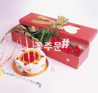 장미박스+케이크