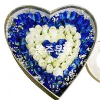 비누꽃-블루하트상자