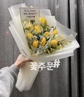 튤립 돈꽃다발(5~6월상품)