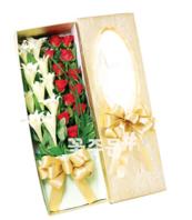 백합장미 꽃박스