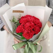 레드카네이션 꽃다발 +코사지 2개